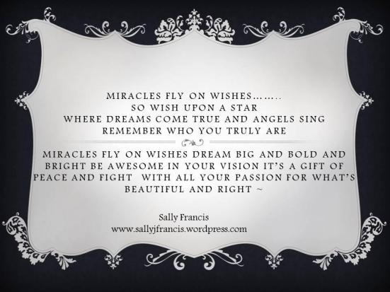 Miracles Fly on WIshes